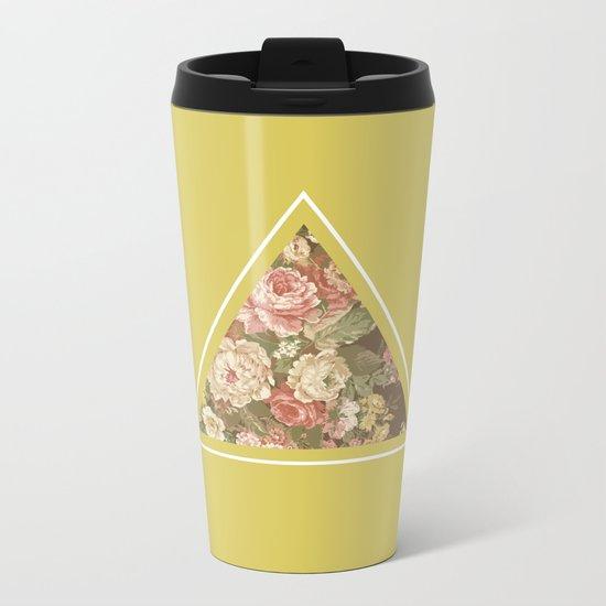 Floribus Trianguli Metal Travel Mug