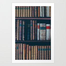 The Vintage Bookshelf (Color) Art Print