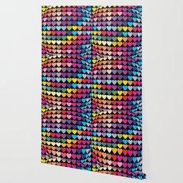 Love Heart Colour Abstract Art Wallpaper