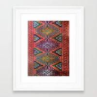 kilim Framed Art Prints featuring Kilim by Selen Atac