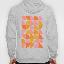Mid Century Mod Geometry in Pink and Orange Hoody
