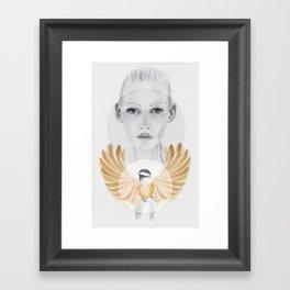 Little Brown Bird Framed Art Print