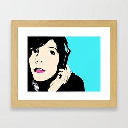 pop art girl Framed Art Print