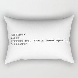 Trust me, I'm a developer Rectangular Pillow