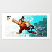 wreck it ralph Art Prints featuring Wreck it Ralph by twistedCaliber