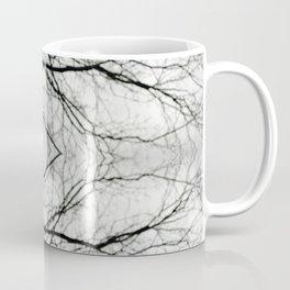 Abstract Bokeh Branches - Black & White Mood - Natural Neutral Coffee Mug