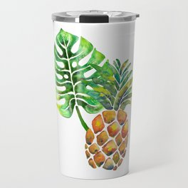 Monstera Pineapple Travel Mug