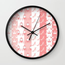 Modelos Toppers Princesa Handcrafted Studio train king pink Wall Clock