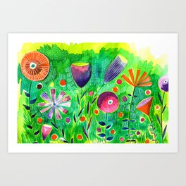 Abstract Floral III Art Print