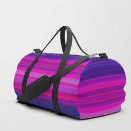 Vibrant Purple Pink and Green Stripes Duffle Bag