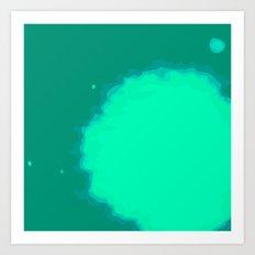 Splat on Teal - by Friztin Art Print