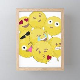 Emoji Balloons Framed Mini Art Print