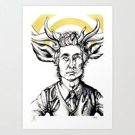 Homen Cervo Art Print