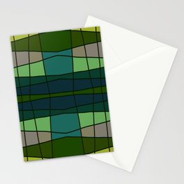 Green Pattern Turtle Stationery Cards