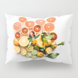 Lemon orange leaf Pillow Sham