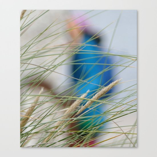 behind the beach grass Canvas Print
