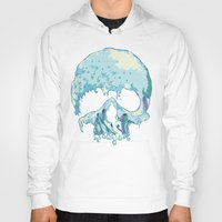 silent Hoodies featuring Silent Wave by Huebucket