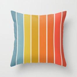 Gradient Arch - Rainbow II Throw Pillow