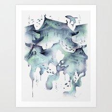 Underwater Temple Art Print