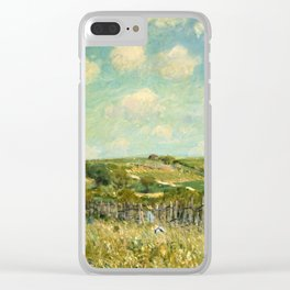 Alfred Sisley - Meadow, 1875 Clear iPhone Case
