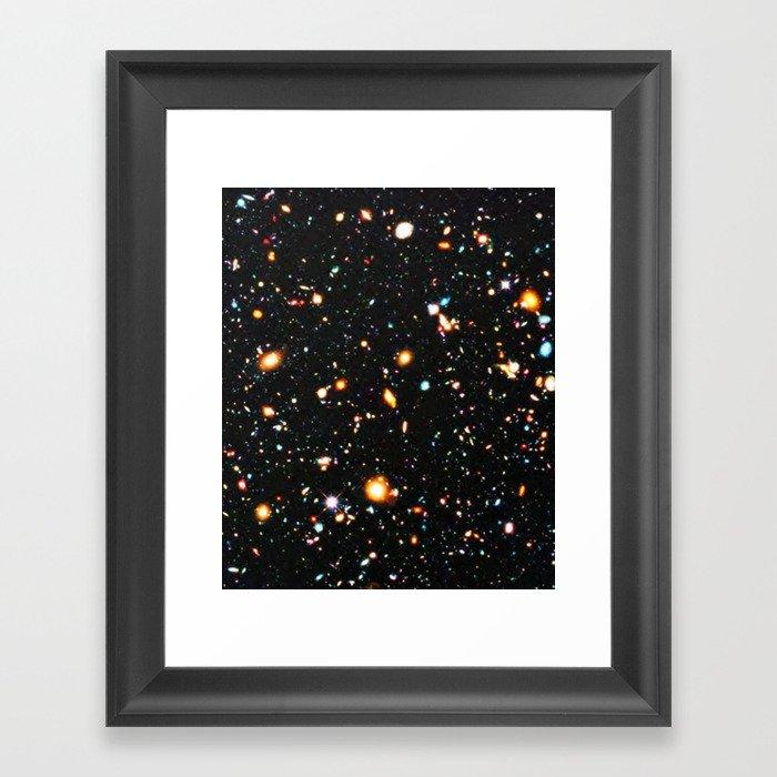 Hubble Extreme Deep Field High Resolution Gerahmter Kunstdruck