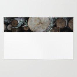 Wood stack Rug