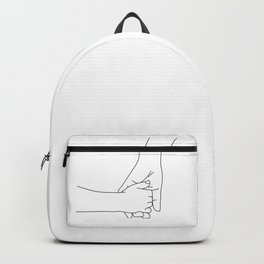 Holding hands mom and child Backpack