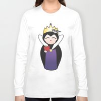 evil queen Long Sleeve T-shirts featuring Evil Queen kokeshi by Pendientera