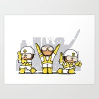 beastie boys Art Prints featuring Beastie boys tribute by rodouyeha