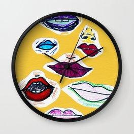 oral fixation Wall Clock