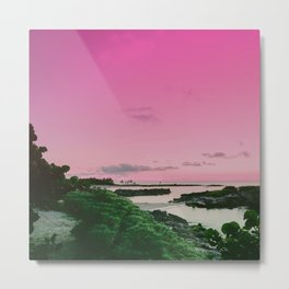 Pink Sky in Mexico Metal Print