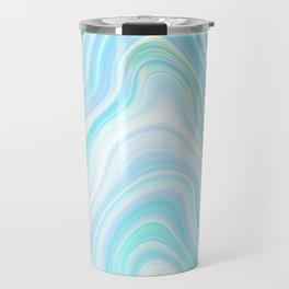 Cool Pastel Blue Lava Marble  #marble #society6 #abstractart Travel Mug