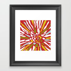 Pia - Abstract floral Framed Art Print