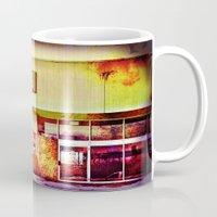 cinema Mugs featuring Abandoned Cinema by Elina Cate