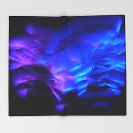 BLUE GLOWSTICKS Throw Blanket