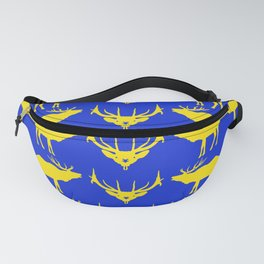 Graphic Swedish Elk on Blue Fanny Pack