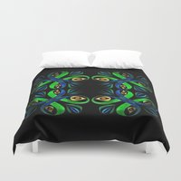poison ivy Duvet Covers featuring Poison Ivy by Pani Grafik