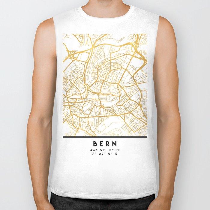 BERN SWITZERLAND CITY STREET MAP ART Biker Tank