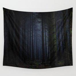 The Dark & Eerie Woods (Color) Wall Tapestry