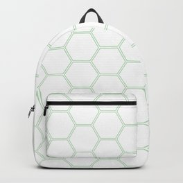 Honeycomb Mint Green #192 Backpack