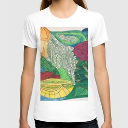 Fruit and Veggie Bowl with Rose T-shirt