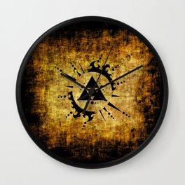 Legend Of Zelda Triforce Grunge Wall Clock