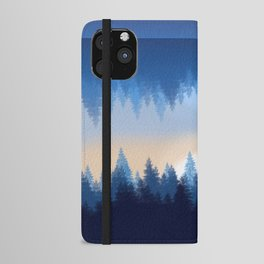 Winter Pines Reflected iPhone Wallet Case
