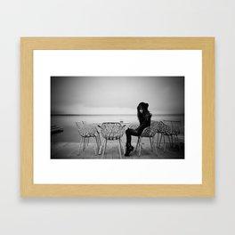 lake girl Framed Art Print
