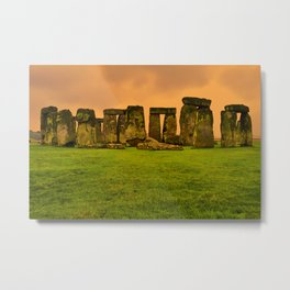 The Standing Stones - Stonehenge Metal Print
