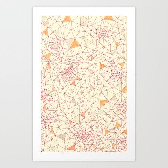an abundance of triangular amoebas Art Print