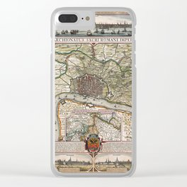 Map Of Antwerp 1624 Clear iPhone Case