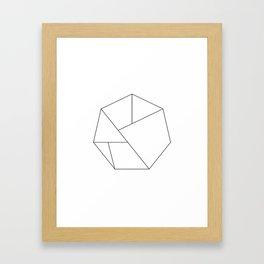 Hexagon Geometric Framed Art Print