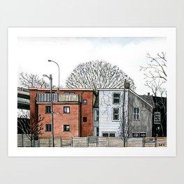 Sumach Street Houses Art Print