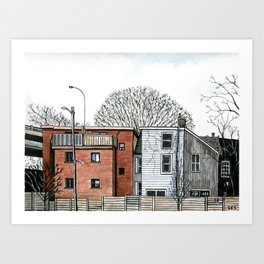 Sumach Street Houses Art Print